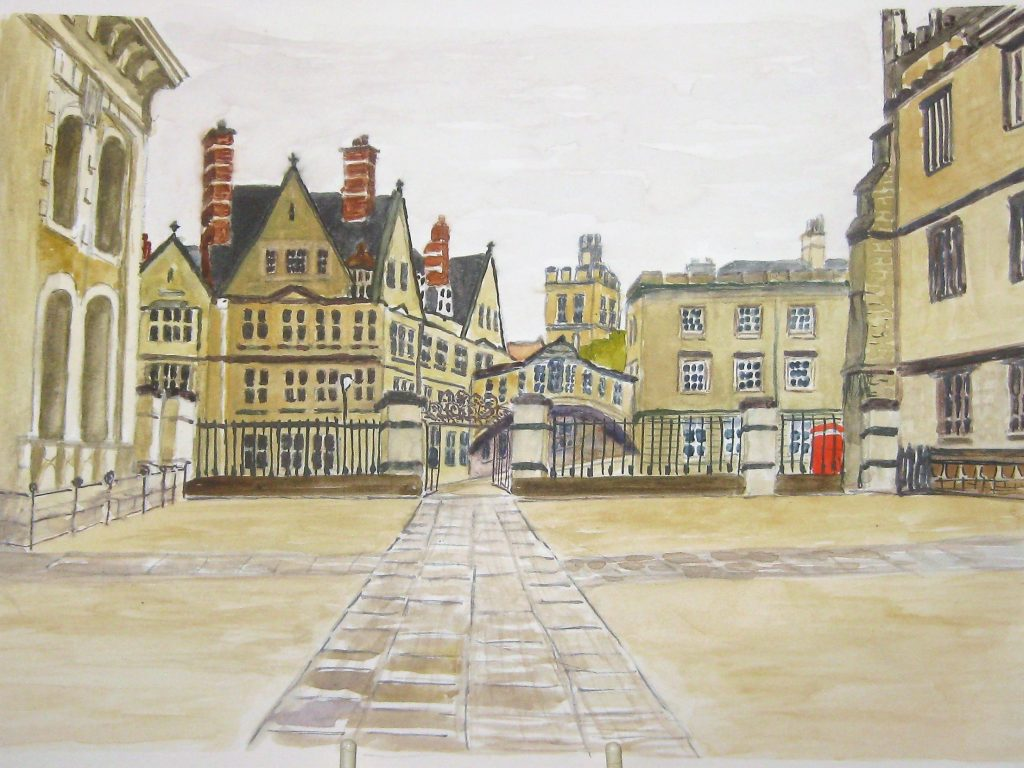 water colour of Oxford