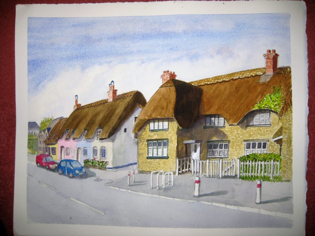 painting of High Street