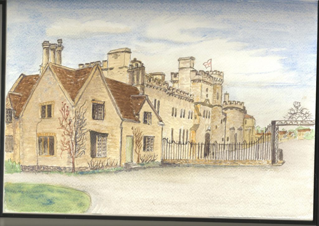 painting of Cirencester castle